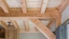 Balkenplafond van de woonkamer Cottage De Heeren van Tuil